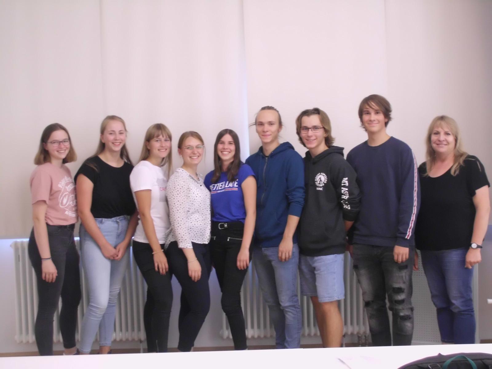 Mitglieder der Schulkonferenz und ihre Vertreter, Vertrauenslehrerin Fr. Striegler